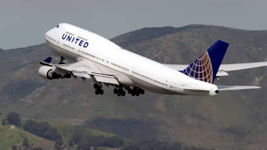 A United Continental plane