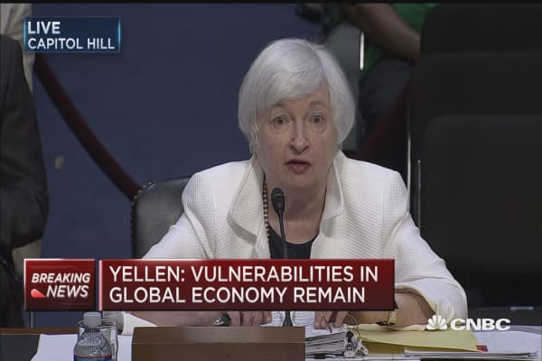Yellen: Looking at changes to bank stress tests