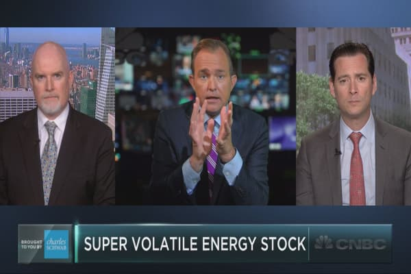 This volatile energy stock is on the rise