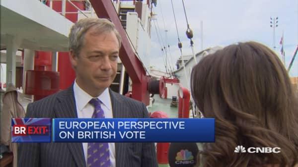 Leave will win by small margin: Nigel Farage