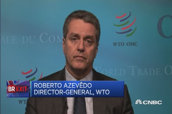 We don't know what the outcome of Brexit will be: WTO's Azevêdo