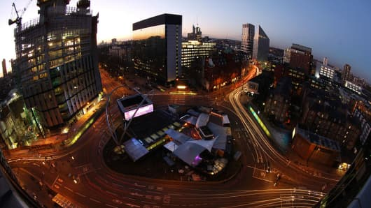 London's Old Street roundabout, also referred to as 'Silicon Roundabout, is an area with many of the cities start-ups.
