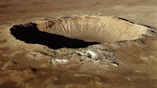 Tesla shares Crater