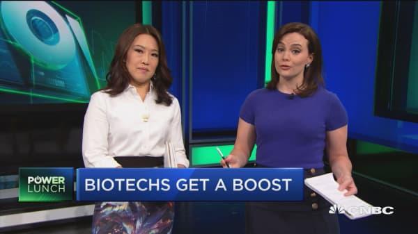 Biotech rally underway