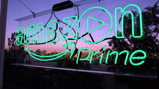 Amazon Prime video signage
