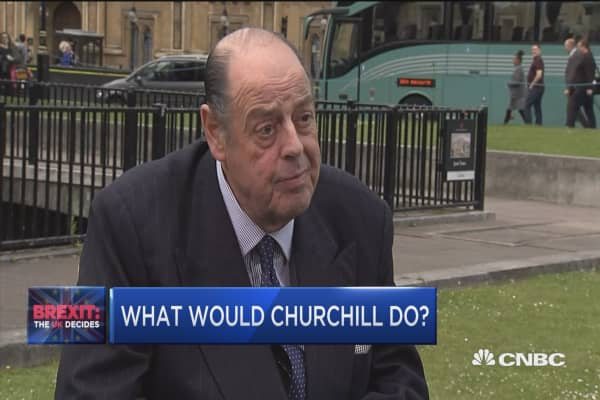 Churchhill's grandson: 'Leave' would be big mistake