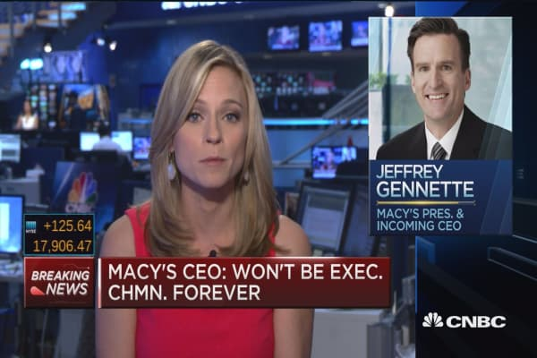 Incoming Macy's CEO's goals