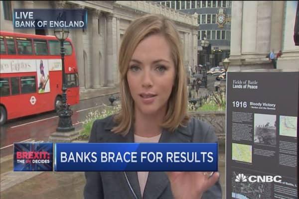 Banks brace for UK results