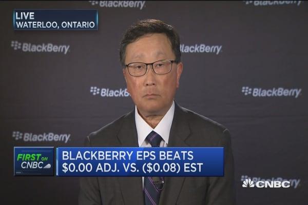 BlackBerry CEO: Bullish on hardware