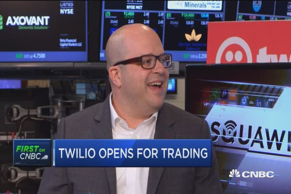 Twilio surges on first day of trading