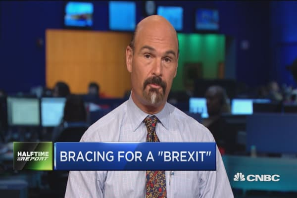 One 'Halftime Report' trader called the outcome of the UK referendum