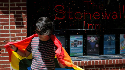 Stonewall Inn on Christopher Street in New York.