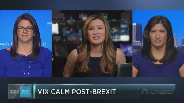 Stocks down, but VIX stable post-Brexit vote