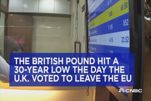 These people rushed to buy the British pound after U.K. vote