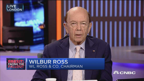 Wilbur Ross: Brexit is 'world's most expensive divorce'