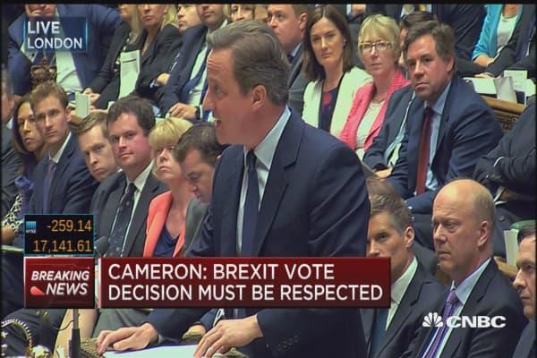 Cameron: Reassuring UK no immediate changes