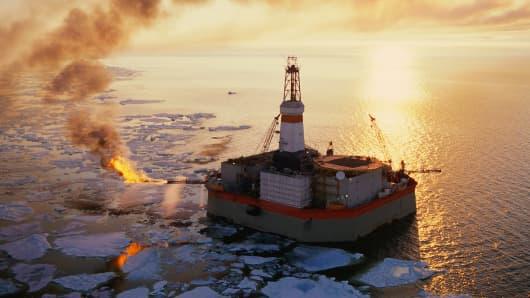 An oil rig Beaufort Sea