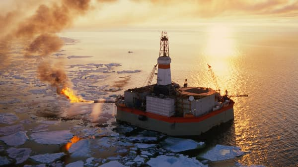 An oil rig Beaufort Sea