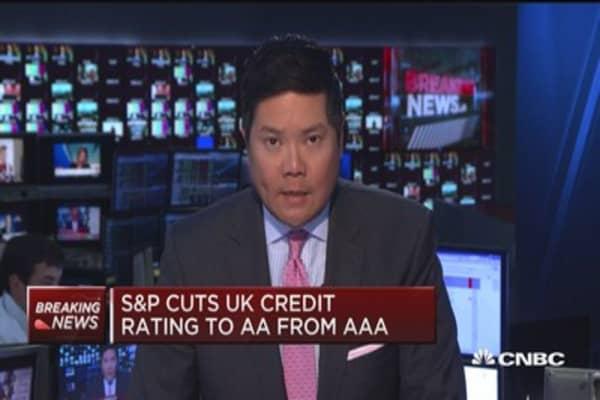 S&P cuts UK credit rating