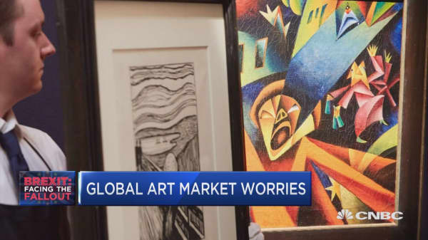 Global art market worries