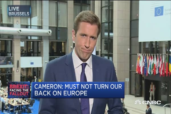 Cameron: UK must not turn its back on Europe
