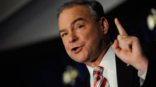 Sen. Tim Kaine, D-VA, along with three other senators, say student borrowers are being denied debt relief