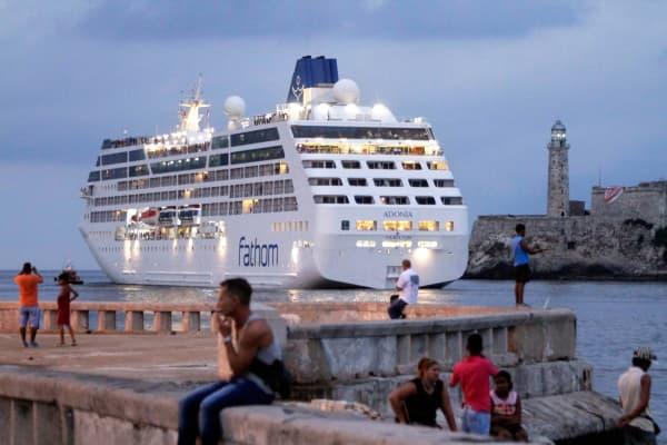 The Carnival cruise ship Adonia in Havana, Cuba, May 3, 2016.