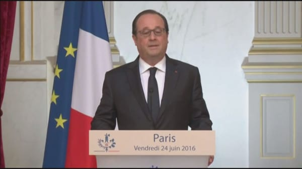 François Hollande adding to post-Brexit fears