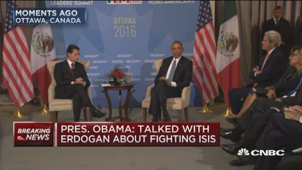 Obama: Deepest condolences for people of Turkey