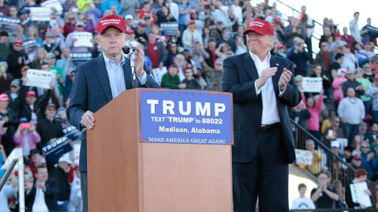 United States Senator Jeff Sessions, R-Alabama, becomes the first senator to endorse Donald Trump for President of the United States.