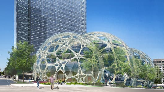 Design for Amazon's new Seattle headquarters