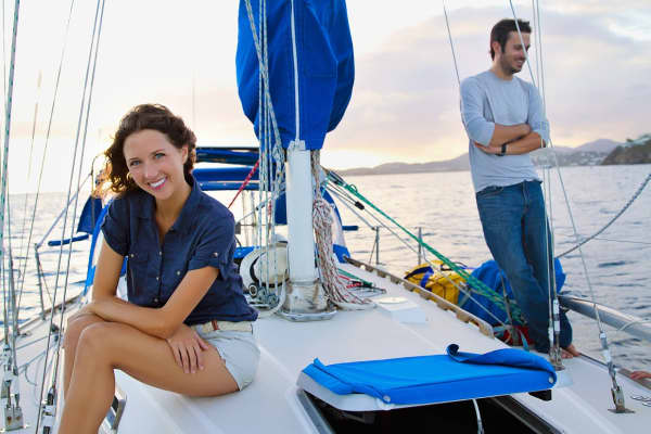 Jessica and Matt Johnson sold their house and cars to fund their global sailing adventure.