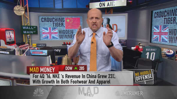 Cramer: China's sudden amazing strength, hidden by Brexit