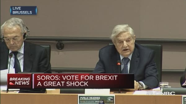Vote for Brexit is a great shock: George Soros