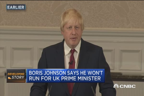 Political shocker... Boris won't run!