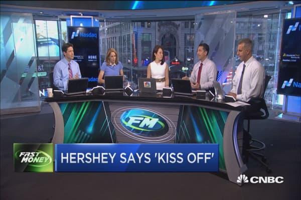 Hershey says 'kiss off'