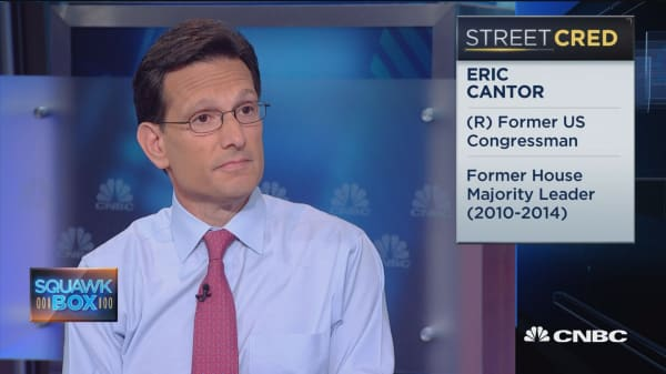 Eric Cantor: I'm supporting Donald Trump