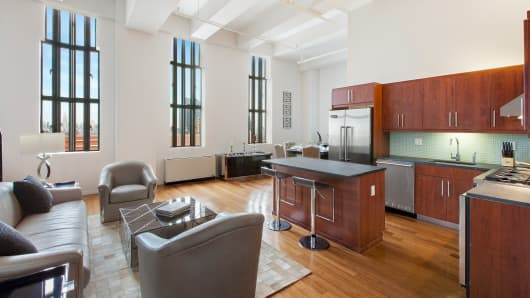 Interior view of 101 Willoughby Street #27B