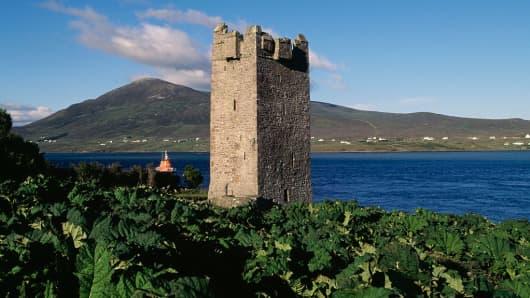 Carrick Kildavnet Castle, Achill Island, County Mayo, Ireland