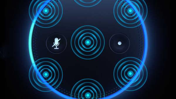 "Diagram showing Amazon ""Alexa"" technology on an Echo device"