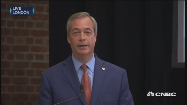 UKIP's Farage: Done my bit, will stand down