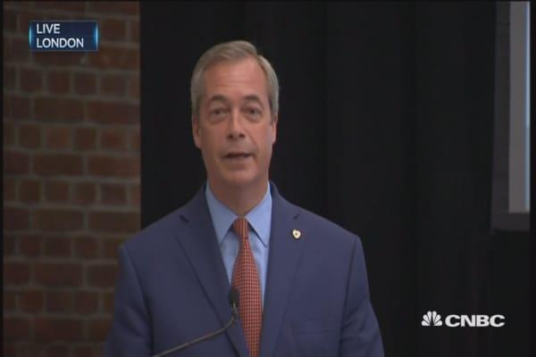 UKIP's Farage: Done my bit, will stand down