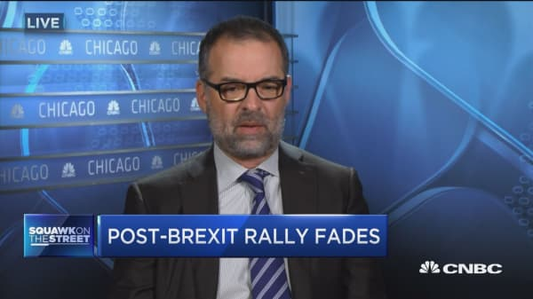 Post-Brexit rally fades