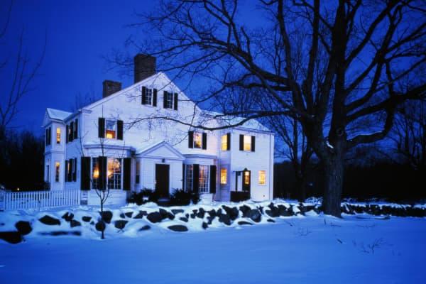 Rye, New Hampshire in winter.