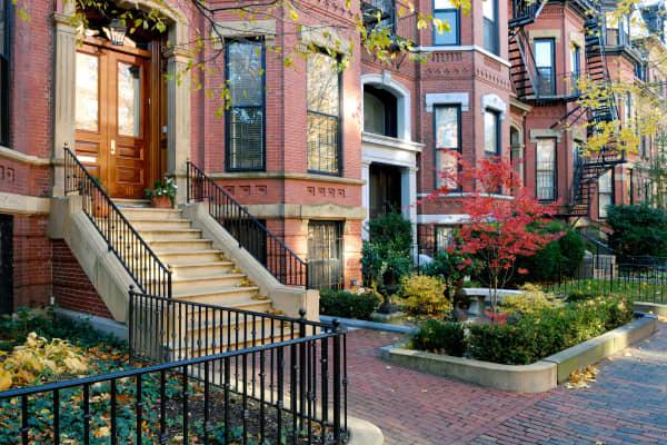 A neighborhood in Boston, Mass.