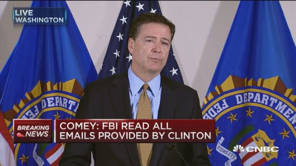 Comey: Clinton & colleagues extremely careless