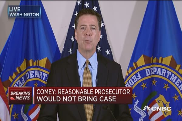 Comey: No charges are appropriate in Clinton case