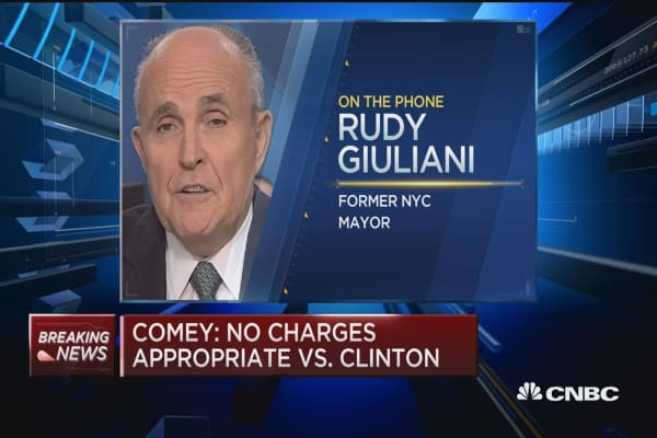 Giuliani: Shocked at Comey's conclusion for 2 reaons