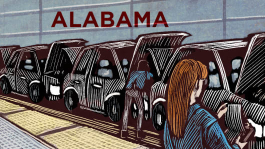 Top States Alabama