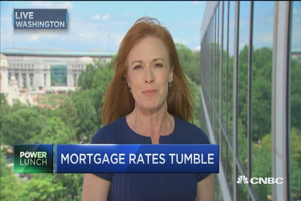 Mortgage rates on their way down again?